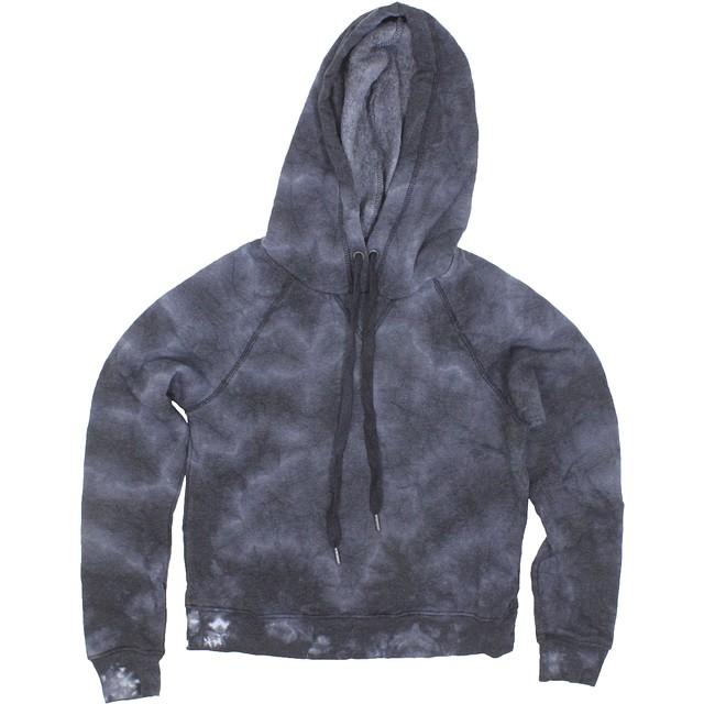Z Supply The Tie-Dye Loft Fleece Hoodie Black