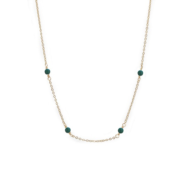 Able Halycon Necklace Turquoise / Gold