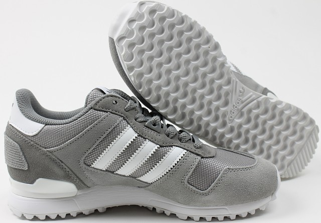 Details about Adidas Mens ZX 700 Sneakers Grey White 4.5 New