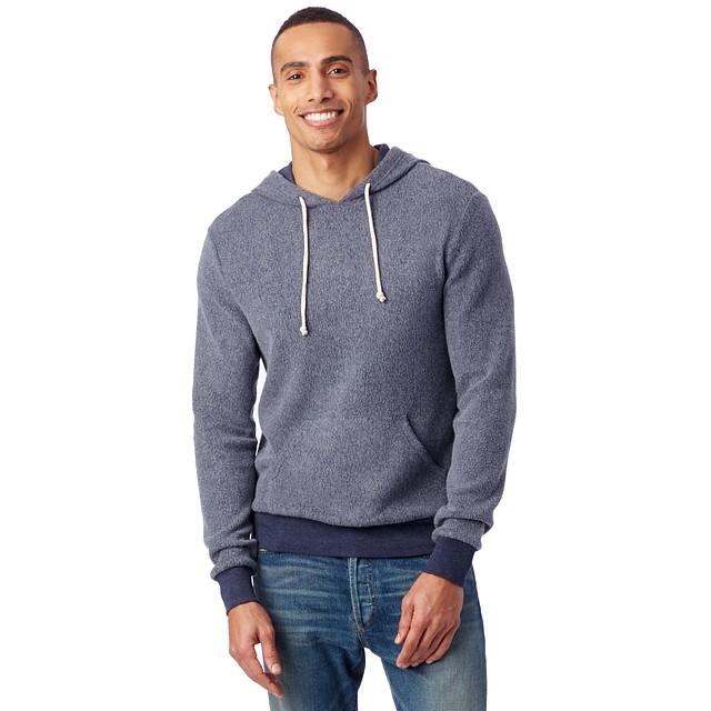 Alternative Apparel Challenger Eco-Teddy Hoodie Eco True Navy