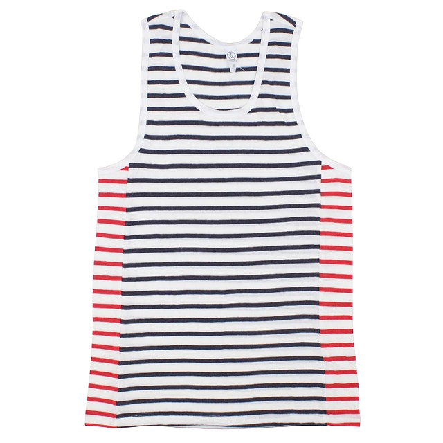 Alternative Apparel Marine Panel Midnight Riviera Stripe / Red Riviera Stripe