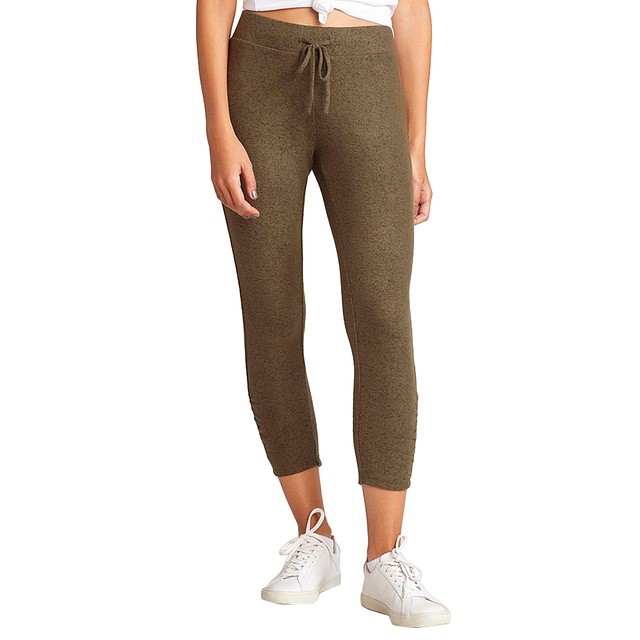 BB Dakota Joggin' Around Crop Jogger Olive Heather