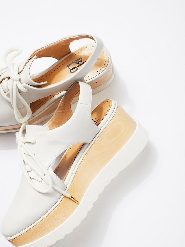 Womens Lou Madison Free White Platform Wedge Bibi 39 People X Shoes D92IHWE