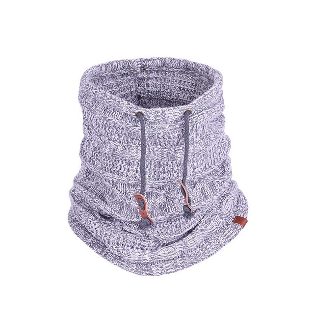 Bickley & Mitchell Cable Knit Snood Grey Twist