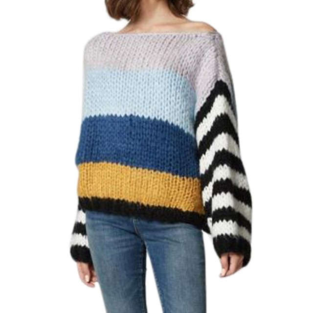 Blank NYC Chunky Stripe Sweater Mixed Signals