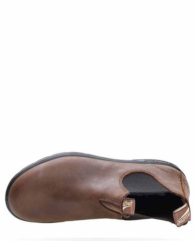 Blundstone 1609 Antique Brown Leather Unisex Chelsea Classic Dress Ankle Boot
