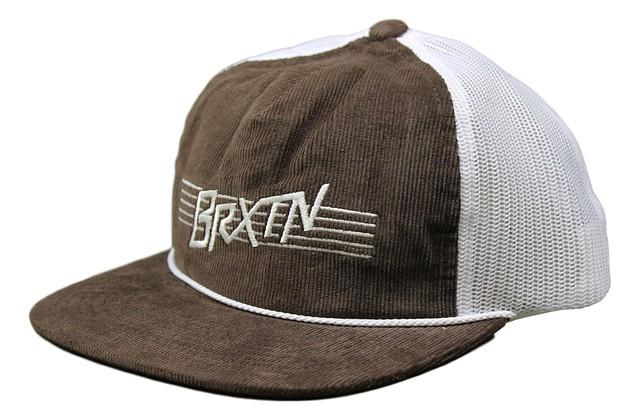 82941dc4a276a Brixton Mens Hermosa Hp Mesh Snapback Hat Brown White One Size New ...