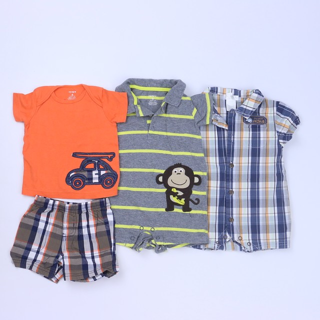 846c81030 Carter's | First Moments Layette 4-pieces Tan | Orange | Gray Apparel Sets 3