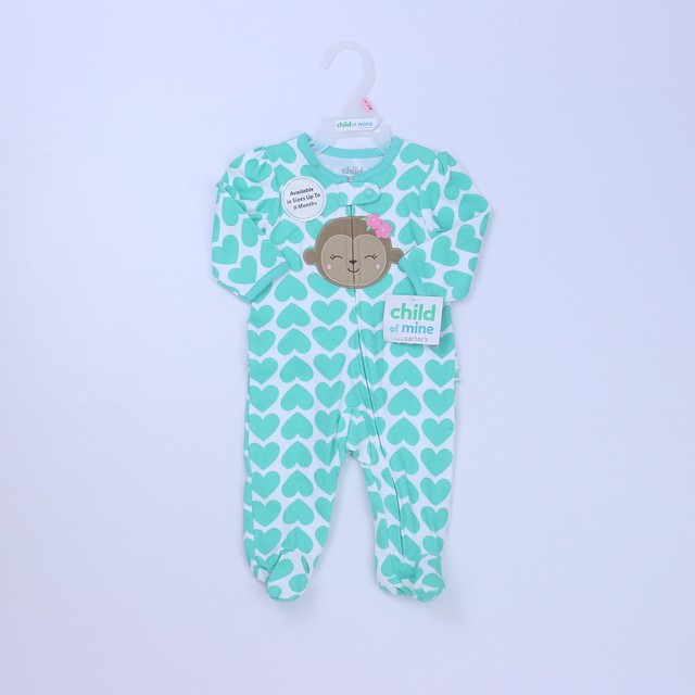 Carter's 1-piece footed Pajamas0-3 Months
