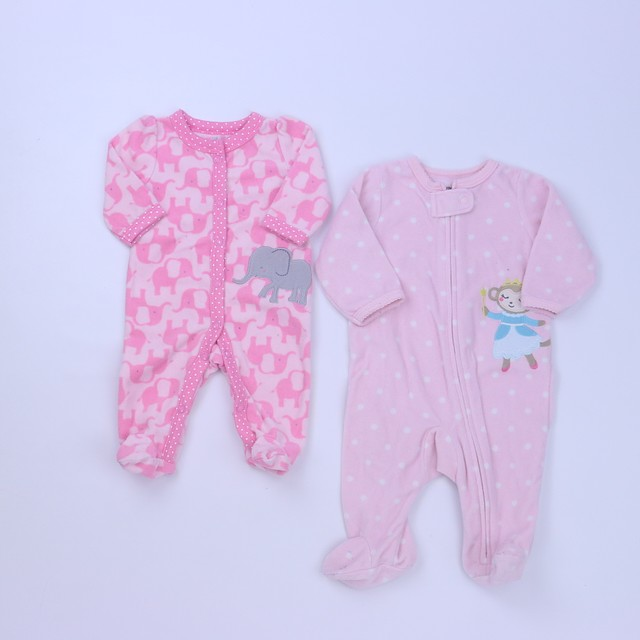 Carter'sSet of 2 1-piece footed Pajamas0-3 Months
