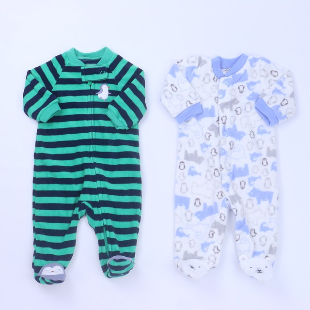 Carter'sSet of 2 1-piece footed PajamasNewborn