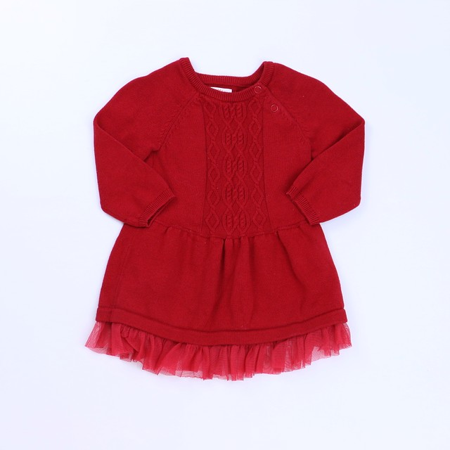 c78f2679c Cat & Jack Red Sweater Dress 6-9 Months