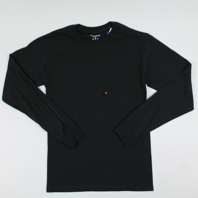 6aaa466c Champion Mens Authentic Classic L/S T-Shirt Black S New | eBay