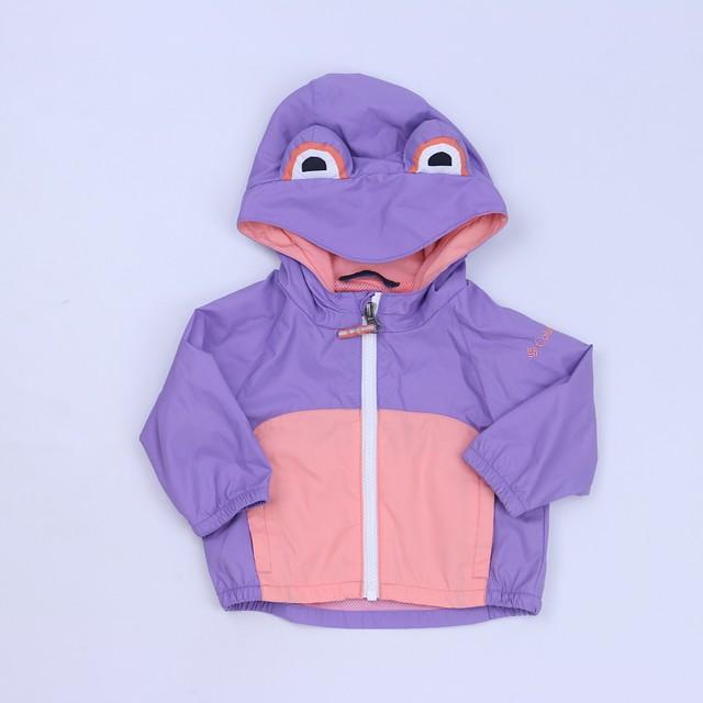 0f00454d4 Columbia Purple | Peach Rain Coat 3-6 Months