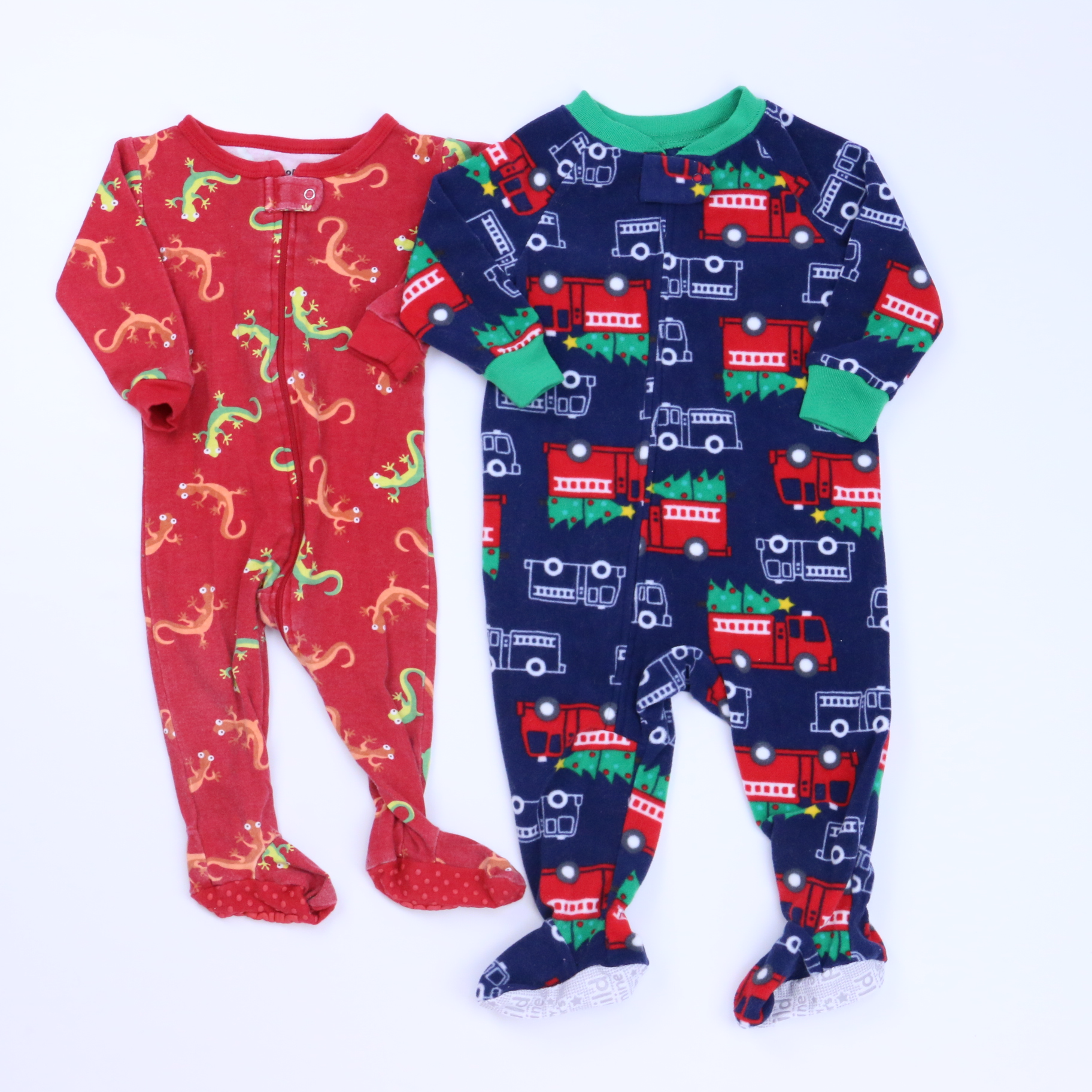 eb0319bcb Set of 2 1-piece footed Pajamas size  6-12 Months - The Swoondle Society
