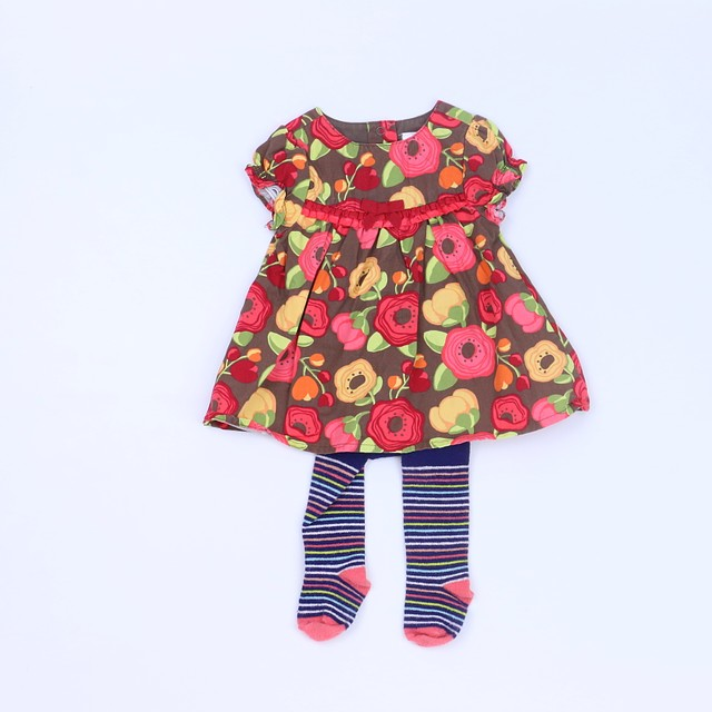 Skirt Brown Corduroy Gymboree Floral Fall Winter Girl Size 6-12 Month New Girls' Clothing (newborn-5t) Baby & Toddler Clothing
