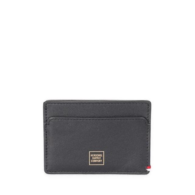 Herschel Slip+ Leather Napa Black