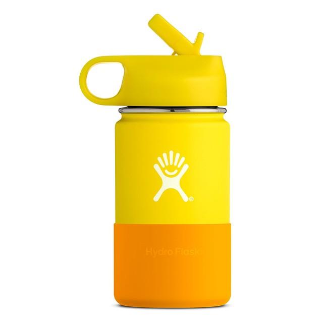Hydro Flask 12oz Wide Mouth w/ Straw Lid Lemon