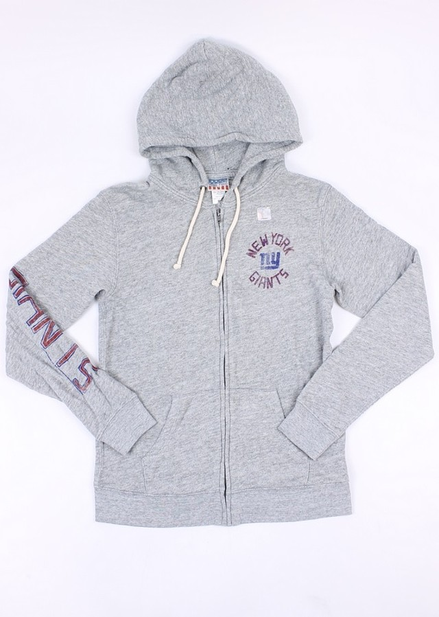 premium selection b5e27 37b15 Details about Junk Food Womens NFL NY Giants Hoodie Zip Up Sweatshirt Grey  XL New