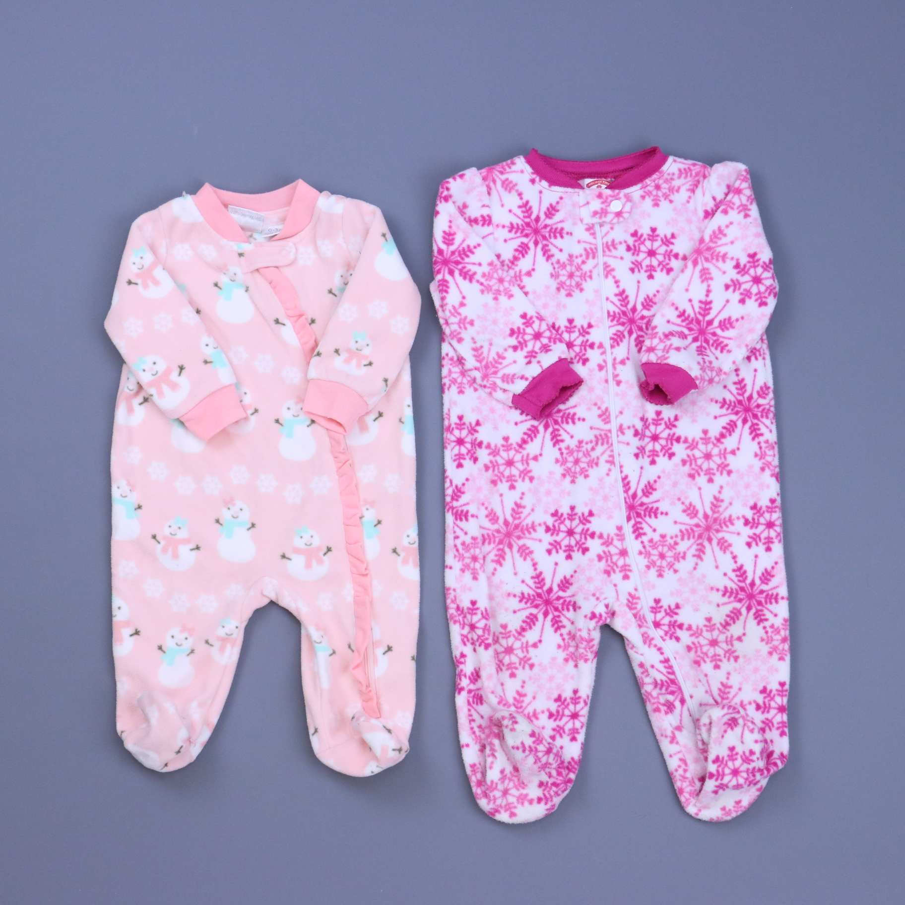 Infant girls size 6 month nwt fleece footed  holiday pajamas