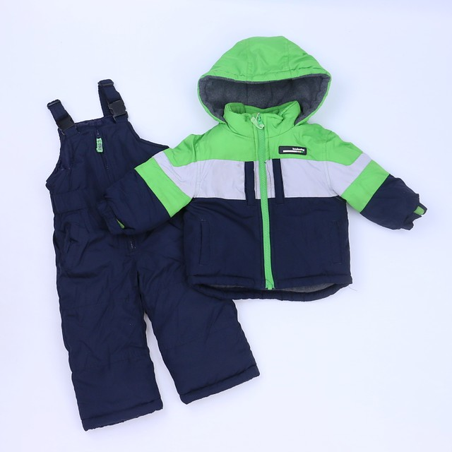 53081b760 London Fog 2-pieces Green | Navy Snowsuit 18 Months