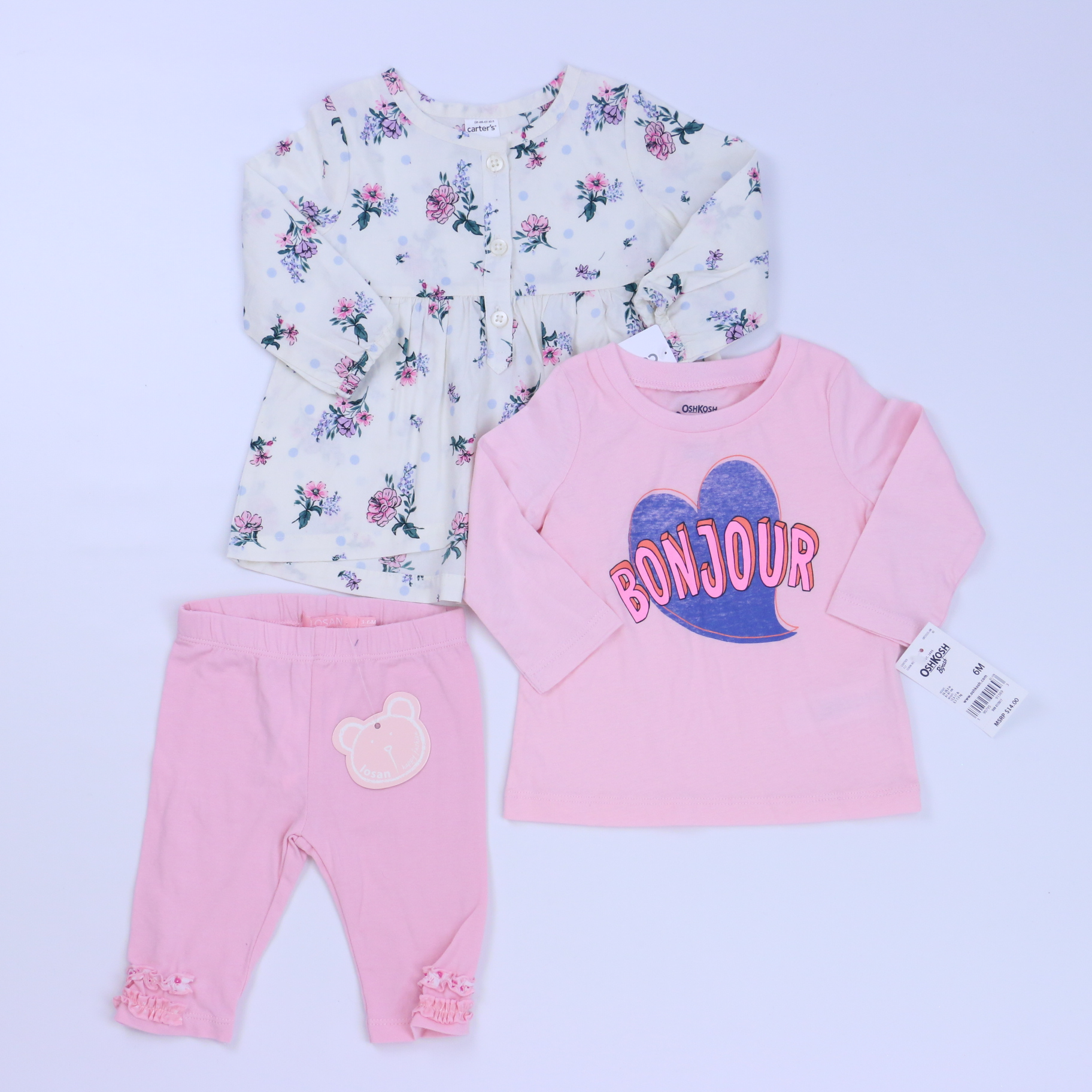 35dbad7f22ab0 3-pieces Apparel Sets size: 3-6 Months - The Swoondle Society