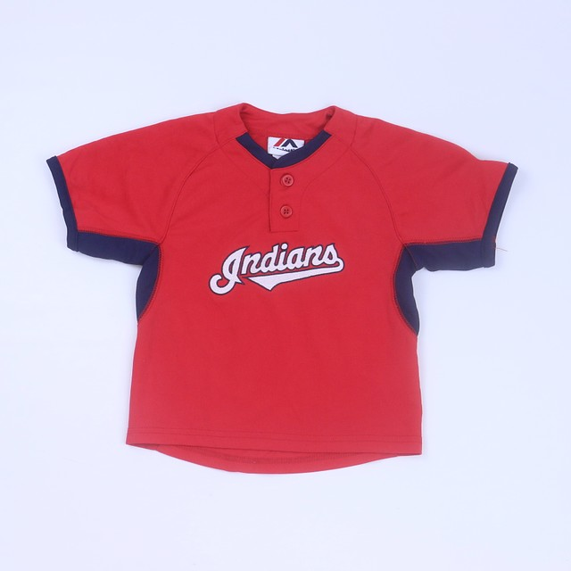 "Majestic ""Indians""  Sports Jersey3T"