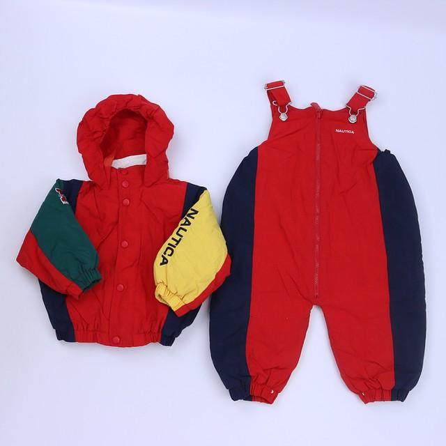 585028fdd Nautica 2-pieces Red | Navy Snowsuit 18-24 Months