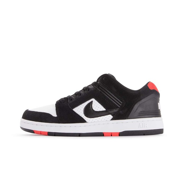 Nike SB Air Force II Low Black / White / Habanero Red
