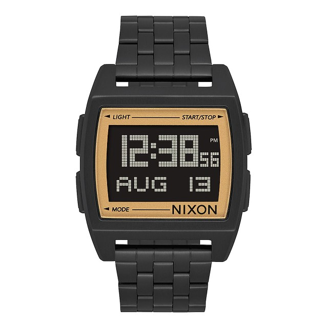 Nixon Base All Black / Gold