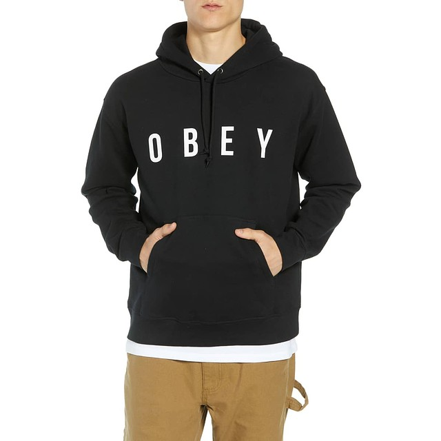 Obey Anyway Hood Black