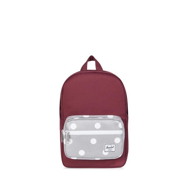 982bad14811 ... Herschel Pop Quiz Kids Backpack Wine  3M Polka Dots
