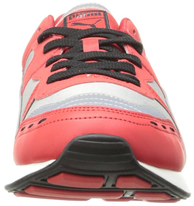 d073bc70e1e596 Puma Men s RS 100 AW Running Sneakers Gray High Risk Red 11 New