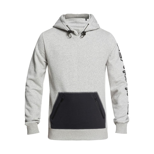 Quiksilver Big Logo Tech Hoodie Grey Heather
