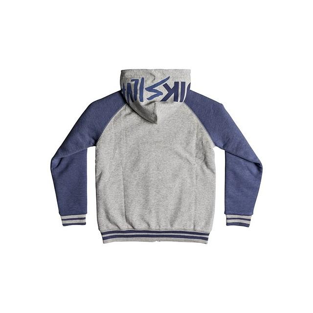 Quiksilver Boys Juwa Sherpa Zip Up Hooded Bijou Blue Heather