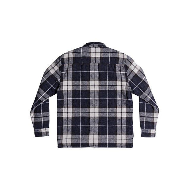 Quiksilver Fuji Pine Blue Night Plaid Flannel
