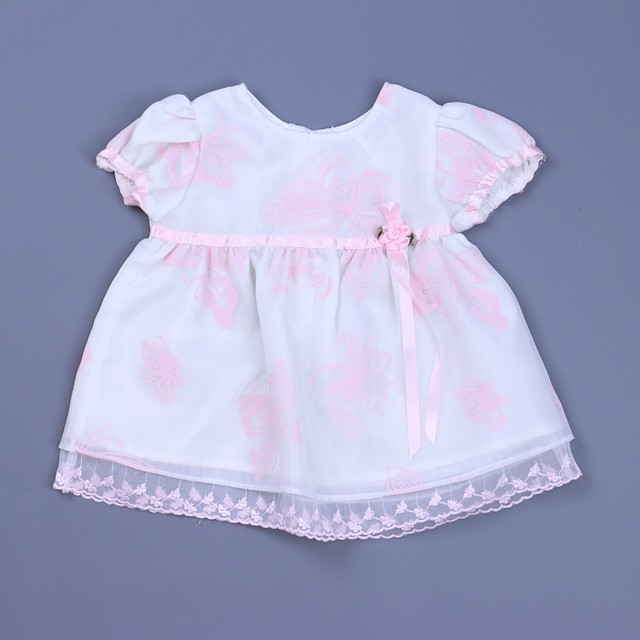 7b05d9079 Rose Cottage 2-pieces White   Pink Special Occasion Dress 0-3 Months