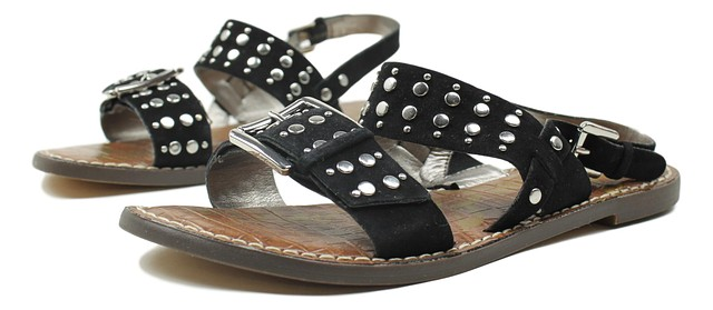 d9cacb540d10 Sam Edelman Womens Glade Suede Sandals Black Size 6.5 New