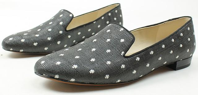 48451757cd1 Sam Edelman Womens Jordy Loafer Slip Ons Black White Polka Dot 9.5 ...
