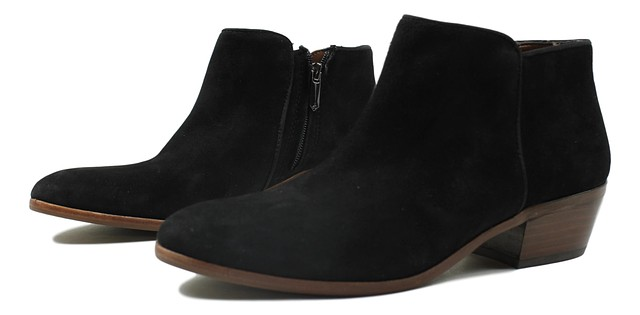 ab9d3017d3be8a Sam Edelman Womens Petty Suede Ankle Booties Black Size 7.5 New ...