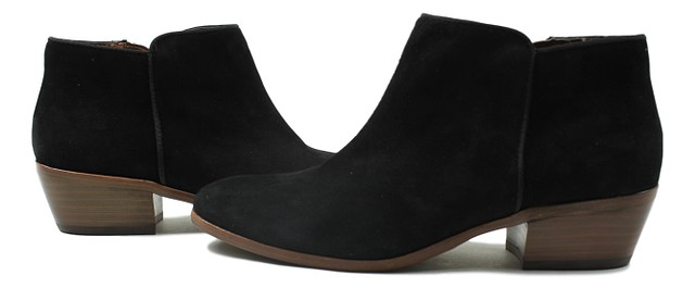 9c734bae6d7f4b Sam Edelman Womens Petty Suede Ankle Booties Black Size 7.5 New ...