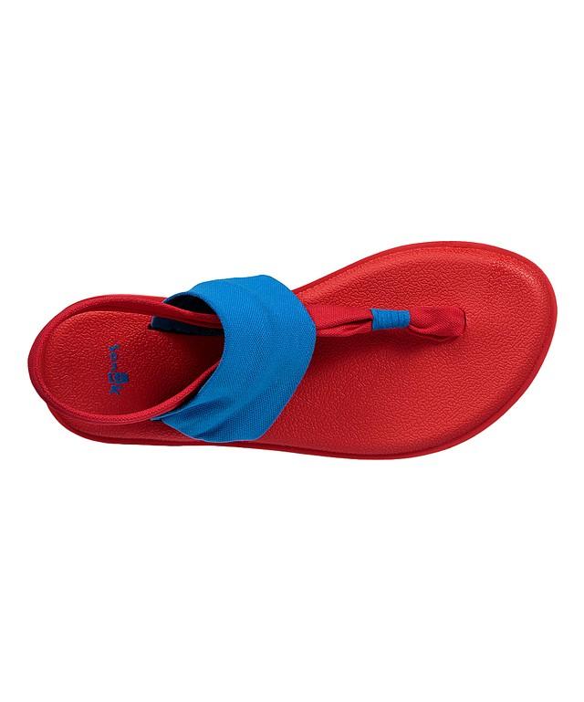 fcbcc1ee68dc37 Sanuk Toddler Girls Yoga Sling Burst Sandals Blue Red 10 New