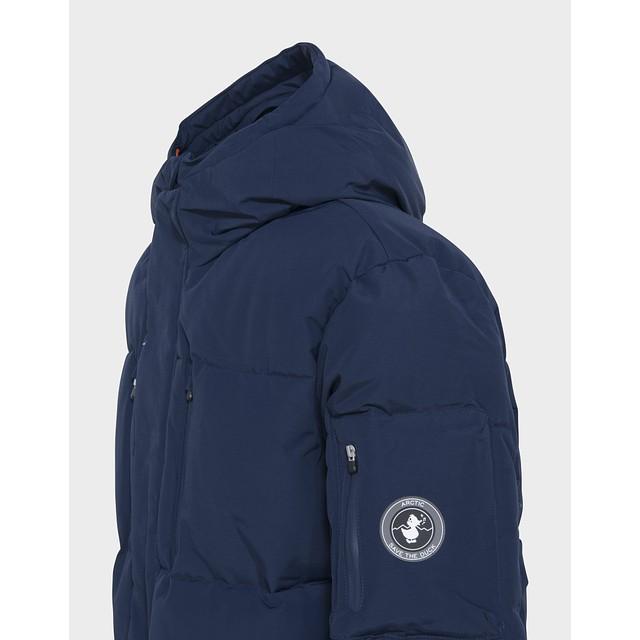 Copy Winter Hooded Parka - Navy Blue