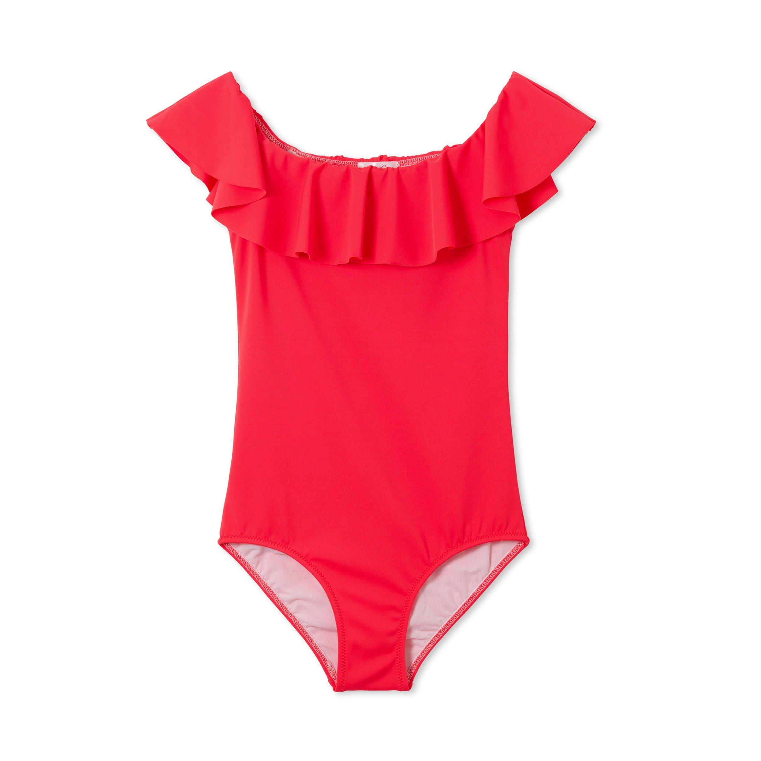 90feb8e6156ac Girls Red Swimsuit - RedGirls - Flying Point Surf