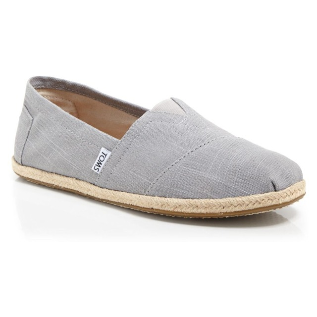 TOMS Classic Rope Sole Grey Linen