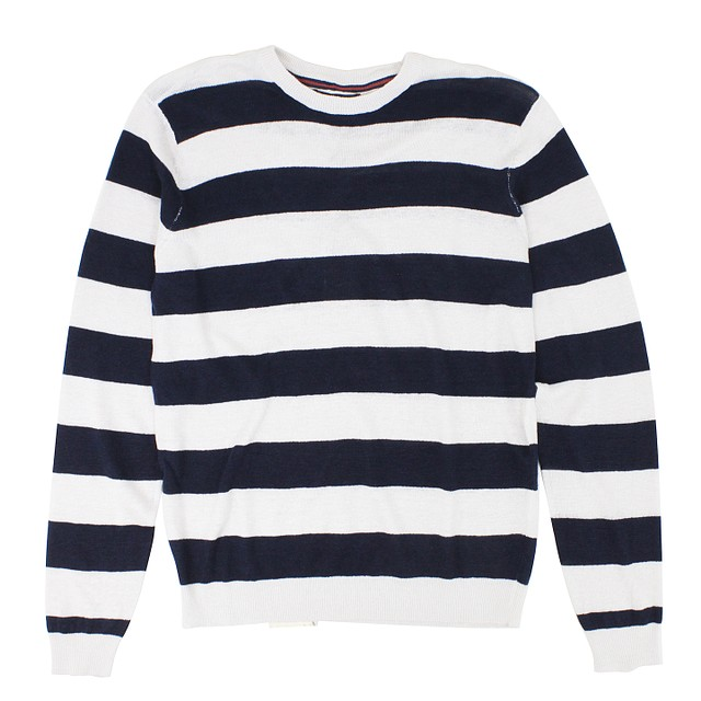 Tailor Vintage Rugby Stripe Pebble Navy