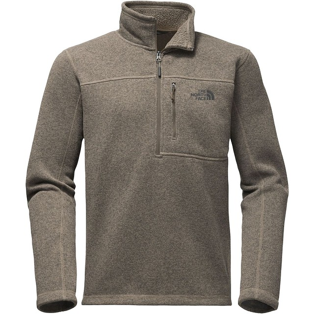 The North Face Gordon Lyons 1/4 Zip Falcon Brown Heather