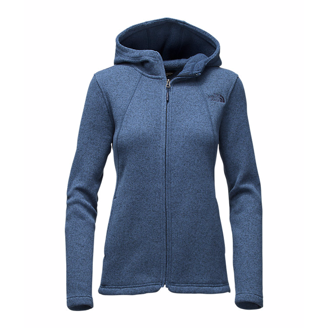 The North Face W Crescent Full Zip Shady Blue Heather