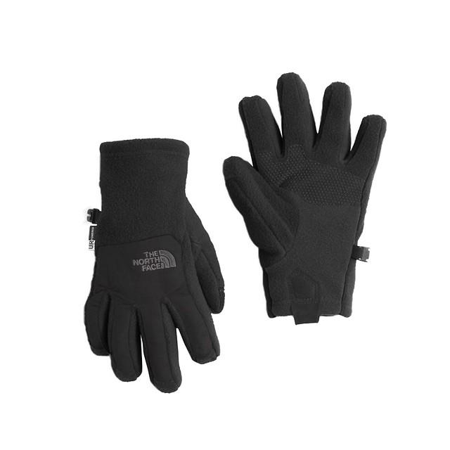 New North Face Girls Denali Thermal Glove TNF Black NWT Small