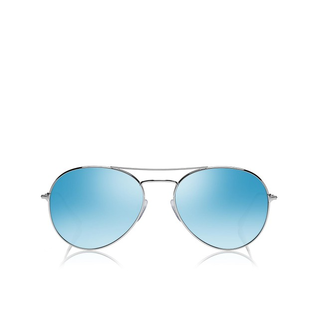 Tom Ford Ace Silver / Blue Mirror Lens